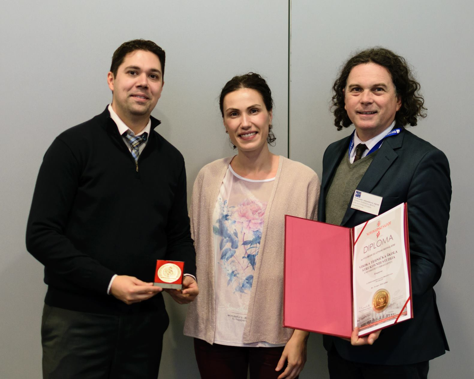 Professors with gold medal